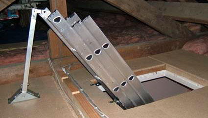 A Securely Fitted Loft Ladder
